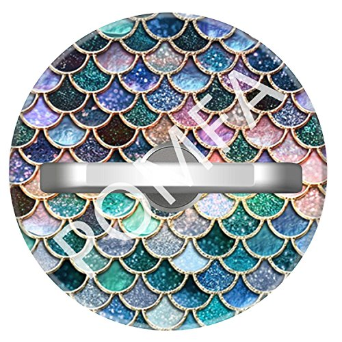 Cell Phone Ring Holder Stand Pink And Aqua Mermaid Scales Glitter, Phone Grip Car Mounts 360 Degree Rotation with Finger Ring for iPhone X, 8, 7, 6s, Plus, Samsung Galaxy S6 S7, Note, LG