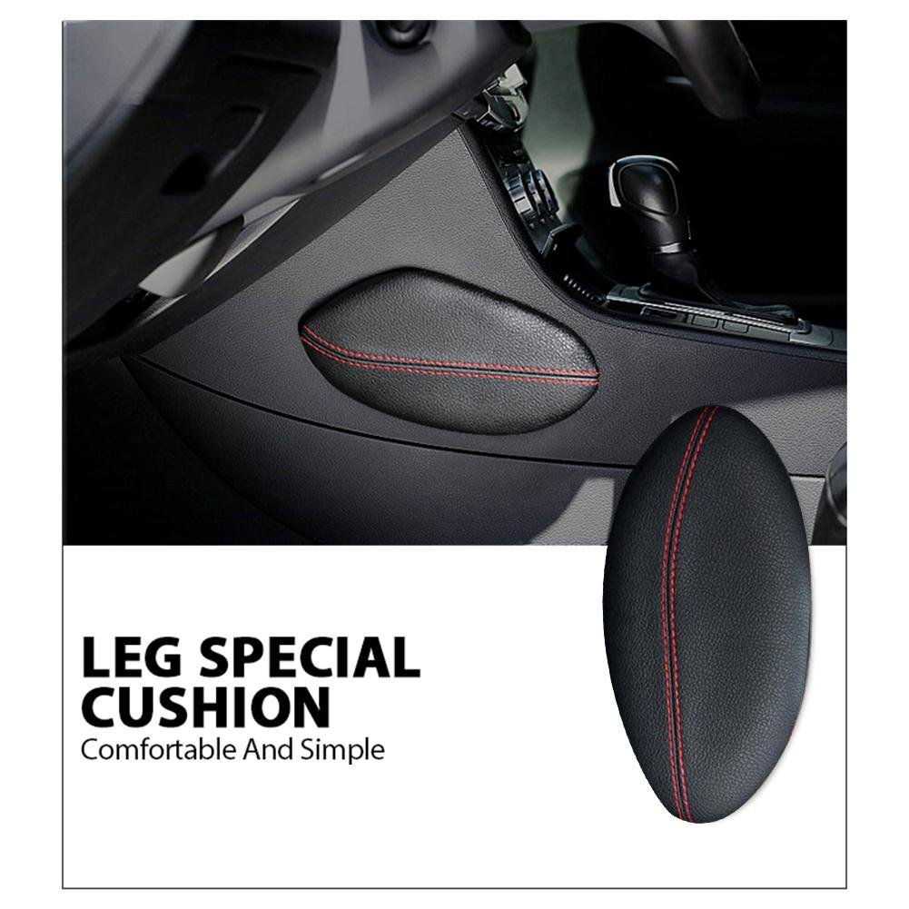 US-PopTrading Console Knee Cushion Soft Pad,Universal Car Auto Center Console Seat Knee Leggings Cover Side Thigh Cover Support Pillow Interior Car Accessories