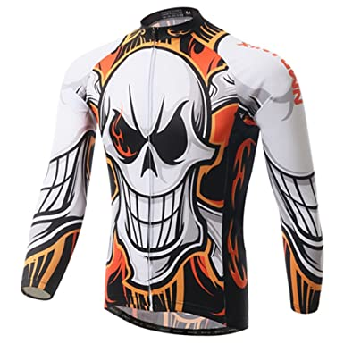 125e30714 Men s Long Sleeve Cycling Jersey Bike Clothing Bicycle Clothes Autumn 100%  Polyester Outdoor Sports MTB