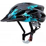 Capacete Ciclismo Tsw Raptor 2 Com Led Preto Azul Mtb Xc