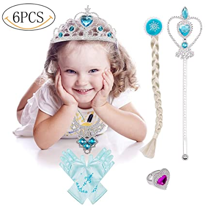 Princess Dress Up Costume Accessories Elsa Set For Princess cosplay Gloves Tiara Wand and Necklace(  sc 1 st  Amazon.com & Amazon.com: Princess Dress Up Costume Accessories Elsa Set For ...