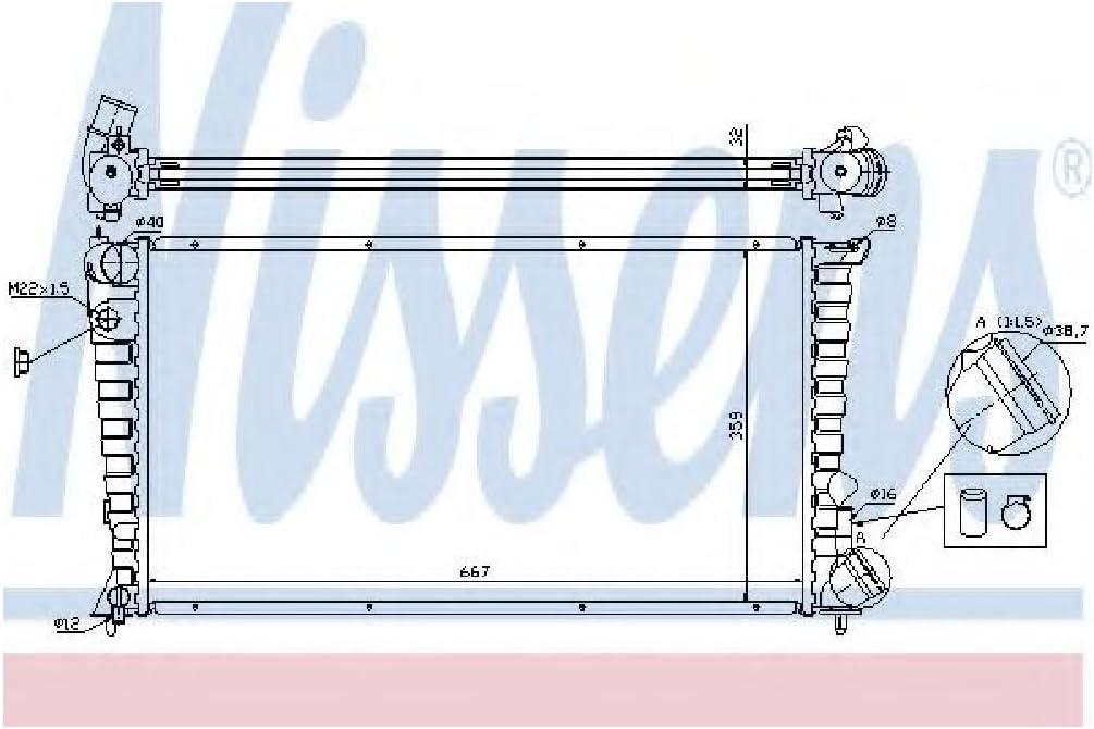 NISSENS 61326A Refrigerantes del Motor