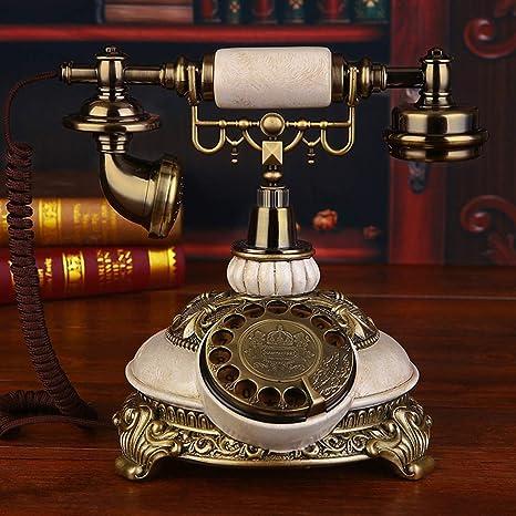 YQCSLS Teléfono Antiguo Teléfono Fijo Teléfono Antiguo hogar ...