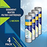 1 Micron Water Filtration 1M-4PK 1-Micron Sediment Water Filter Cartridge, 4-Pack