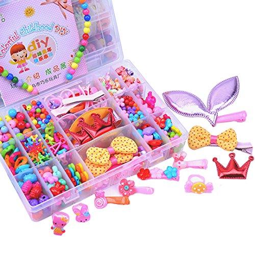 Kennedy Children 24 Lattices Colorful Acrylic DIY Hair Beaded Toy, Handmade Hairpin, Jewelry, Stringing Beads Girl (Toy Lattice)