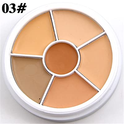 FantasyDay Pro 6 Colors Cosmetics Cream Contour and Highlighting Makeup Kit - Contouring Foundation/Concealer Palette Camouflage Makeup Palette #3