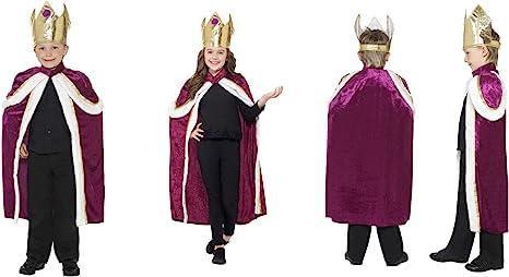 Fancy Dress World 35959 - Disfraz de Corona y Bata para niños ...