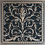 "Decorative Vent Cover, Grille, Return Register, made of Urethane Resin, in French style fits over a 16""x 16"" duct opening. Total size, 18"" by 18"", walls & ceilings only(not for floors) (Rubbed Bronze)"