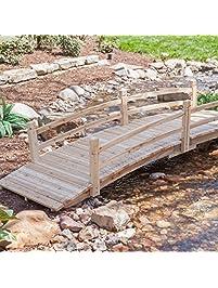 attractive design weather resistant 10 ft wood garden bridge with rails