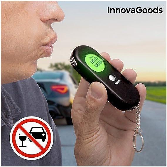 Innovagoods Ig115700 Alkoholtester Digital Schwarz Navigation