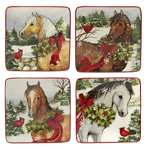 (Certified International 22813SET4 Christmas on The Farm 6