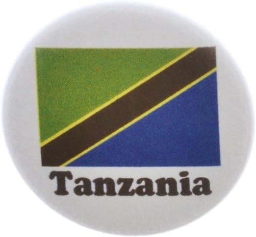 Tanzania Flag BUTTON Pin Badge