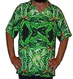 Hawaiian Shirts Mens Rayon Aloha Party Holiday Blue Widow- L