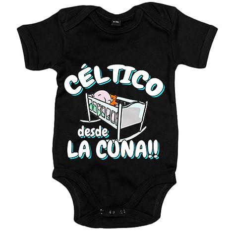 Body bebé Céltico desde la cuna Celta Vigo fútbol - Negro, 12-18 meses