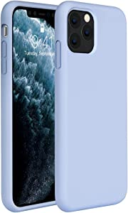 Miracase Liquid Silicone Case Compatible with iPhone 11 Pro 5.8 inch(2019), Gel Rubber Full Body Protection Shockproof Cover Case Drop Protection Case (Clove Purple)