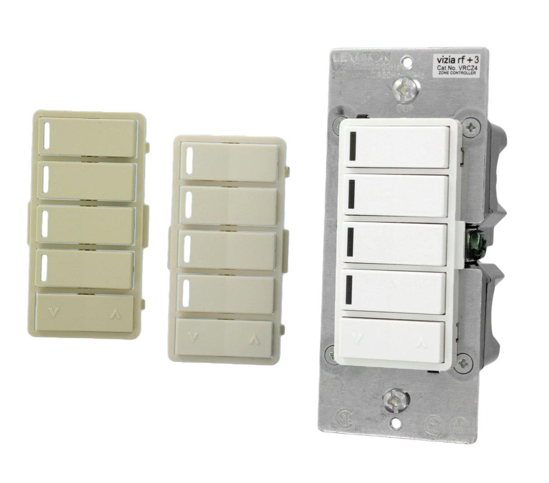 Leviton VRCZ4-M0Z Vizia RF + 4-Button Remote Zone Controller