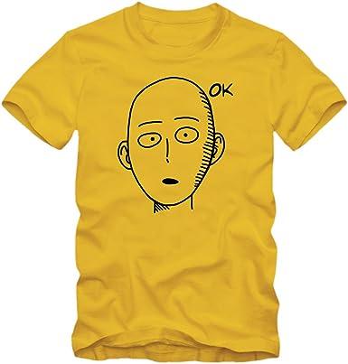 Saitama niños | Camisa de Anime | Manga básica | de un Solo Golpe uno | superhéroe: Amazon.es: Ropa y accesorios