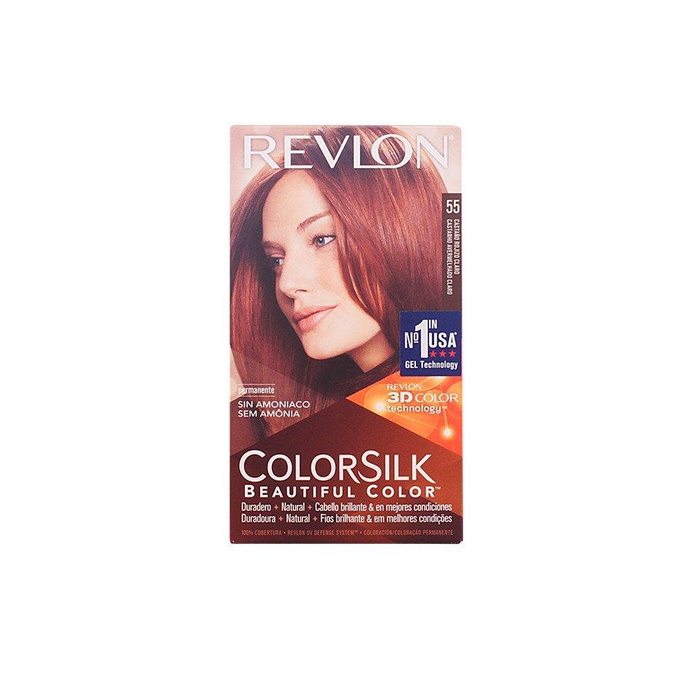 Colorsilk beautiful color 55 light reddish brown by revlon hair color - Amazon Com Revlon Colorsilk Haircolor Light Reddish Brown 20 Ounces Pack Of 3 Chemical Hair Dyes Beauty
