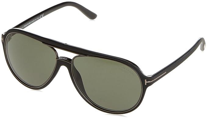 ad677c47c Tom Ford TF379 02R Matte Black Sergio Pilot Sunglasses Lens Category 3 Size  60m