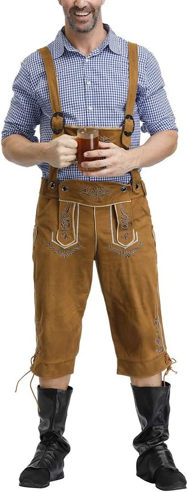 Yiwa Oktoberfest - Camisa con patrón de cuadros + pantalones ...