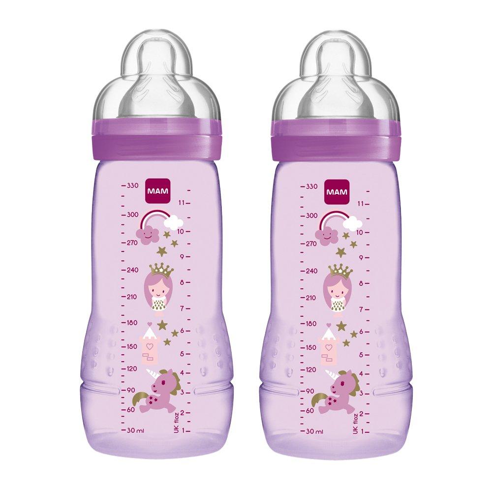 Mam - Botella y la tetina de flujo rápido, 330 ml, paquete de 2