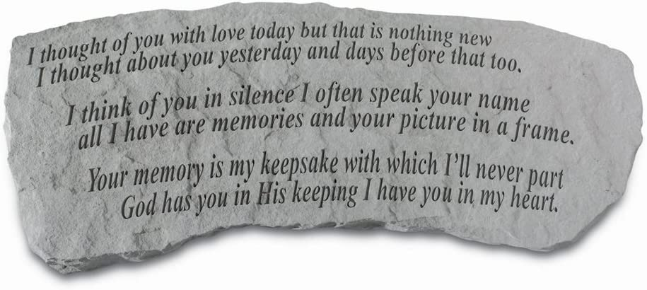 Kay Berry Stone Bench- I Thought of You with Love