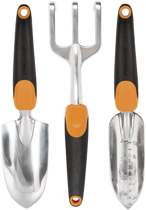Fiskars 384490-1001 Ergo Garden Tool Set, Regular Package, Black/Orange : Garden & Outdoor