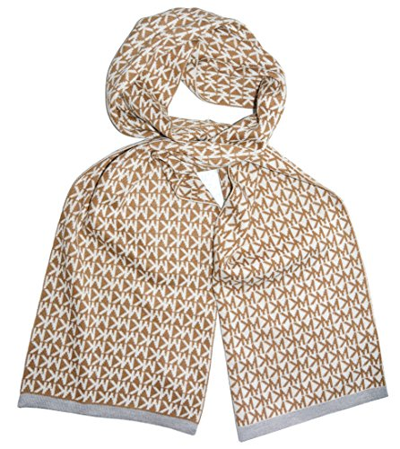 Michael Kors Scarf Camel Signature Knit In Camel ()