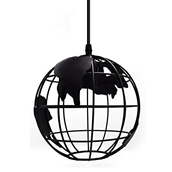 New Version] Vintage Originale Industrielle Globe Lampe Suspension ...