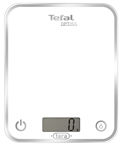Tefal Optiliss - Báscula de cocina, color blanco