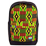 Ethnotek Wayu Campus Laptop Backpack with Authentic Hand Woven Tribal Fabric in Boho Bohemian Style | For Women and Men | (Ghana 17)