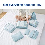Travel Packing Cubes - 7 Sets Luggage Organiser