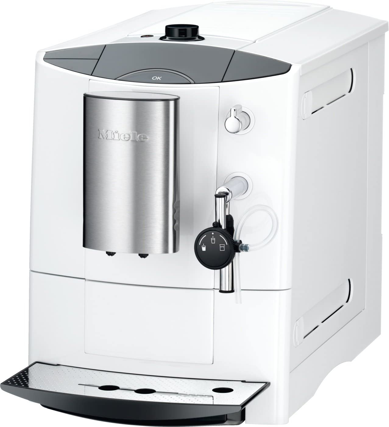 Miele CM 5200 - Cafetera (Color blanco, Goteo, Granos de café, Americano, Capuchino, Café expreso, 1.8L, 26.6 cm): Amazon.es: Hogar