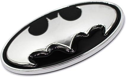 estilo cromado pl/ástico reverso de espuma adhesiva VmG-Store Placa en 3D de Batman color negro