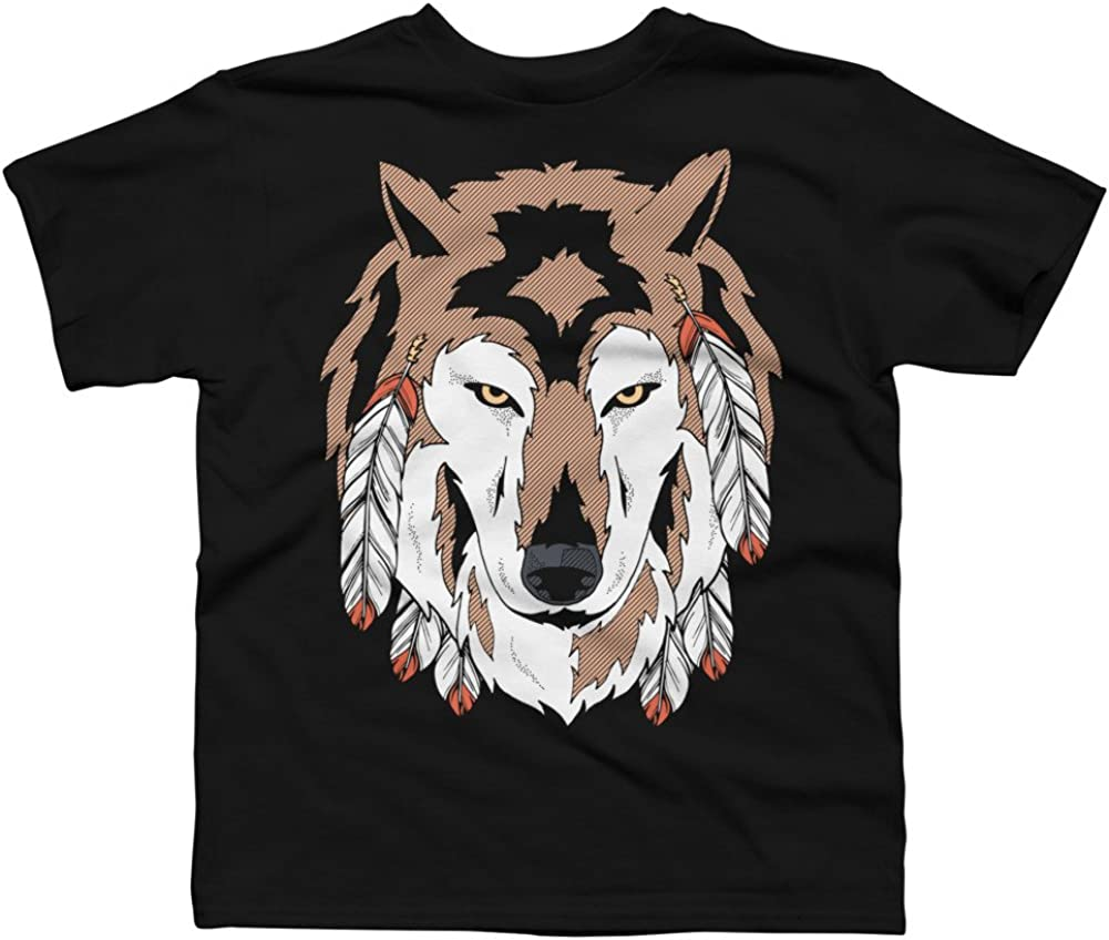 Wolf Spirit Boys Youth Graphic T Shirt Design By Humans