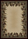 "Dean Mt. Le Conte Pine Cone Lodge Cabin Cottage Area Rug 7'10"" x 9'10"" (8×10) Review"