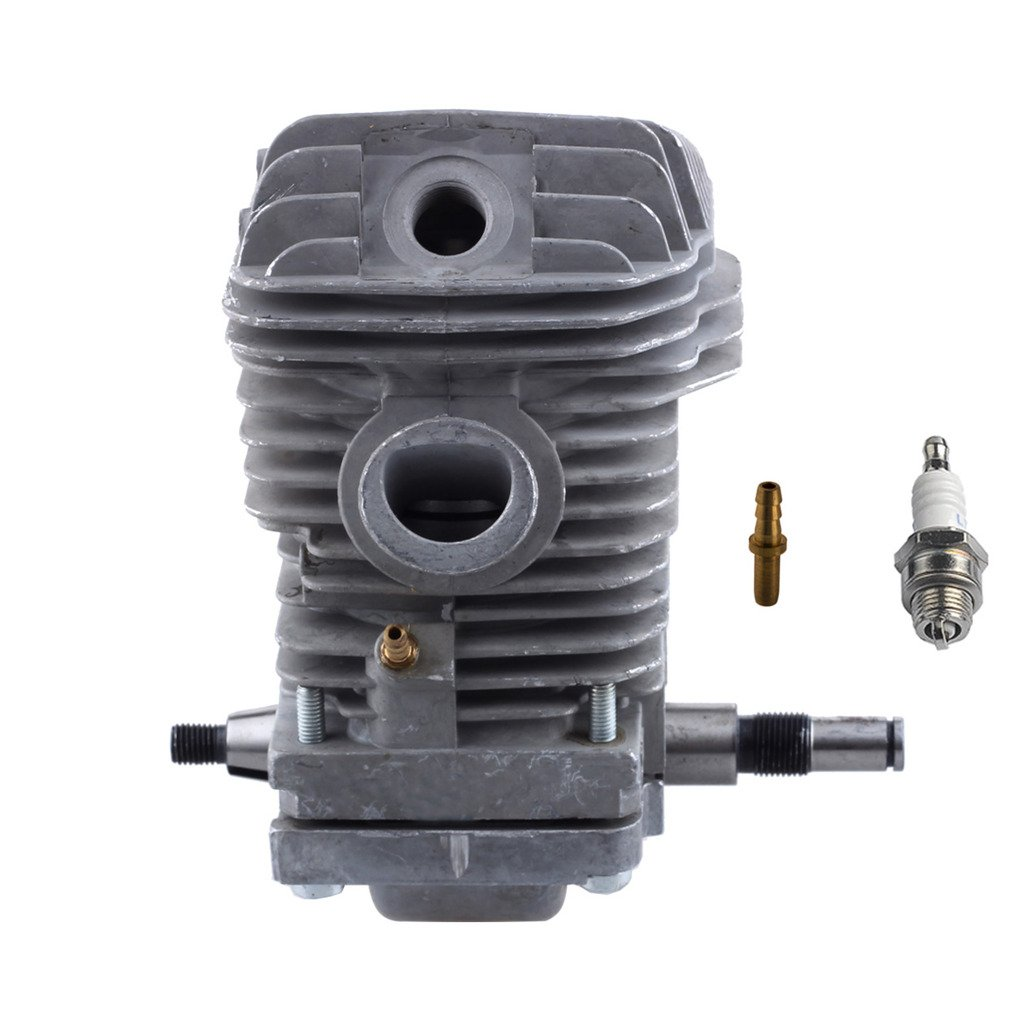 HIPA 42.5mm Cylinder Assembly with Spark Plug Replacement Crankcase Connector for STIHL 023 025 MS230 MS250 Chainsaw by HIPA