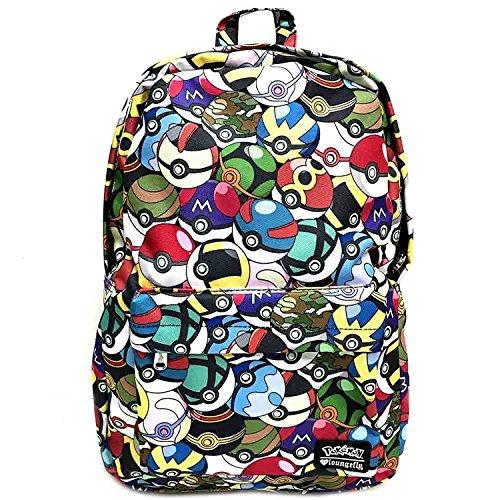 Loungefly x Pokemon Pokeball All Over Print Backpack -