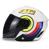 Lidauto Casco de Moto Semi Integral Abiertos Chulos