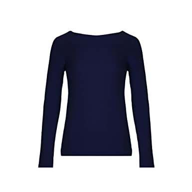 ea01bfb1757 Yumi Womens Ladies Off Shoulder Bardot Jumper (M) (Dark Blue ...