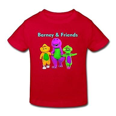 8b1f4cdc8f Radyk56rtyh Toddler's 100% Cotton Barney & Friends Cute T-Shirt