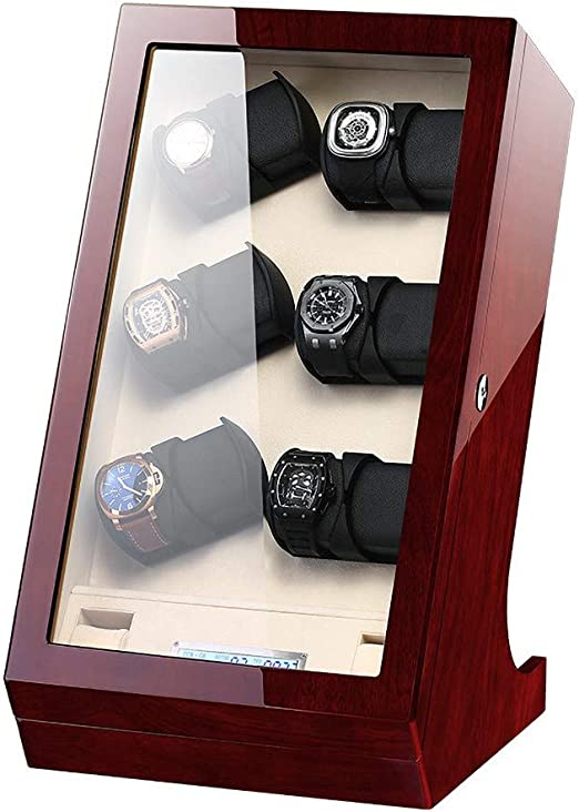 DKZK Caja para Relojes Automáticos - Estuche automático de Madera para enrollador de Reloj con Pantalla táctil LCD para 12 + 2 Watch Winder: Amazon.es: Hogar