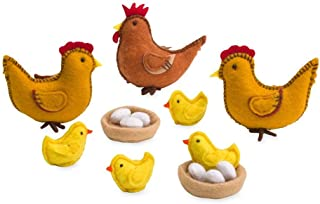 product image for Magic Cabin Felt Chickens Play Set
