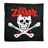 Rob Zombie Music Band Logo patch Rock Heavy Metal Punk Music Band Logo Patch Sew Iron on Embroidered