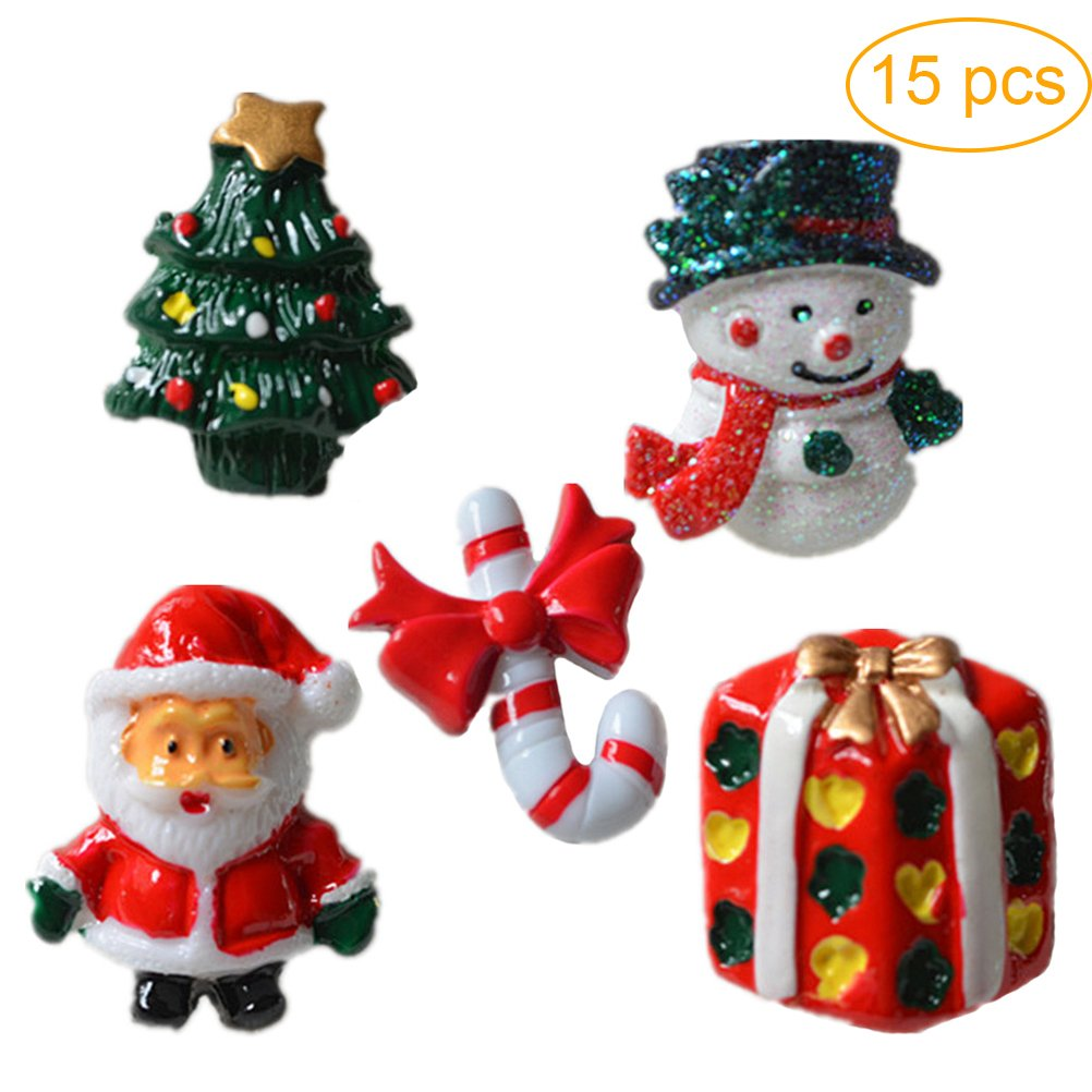 ultnice 15pcs miniatura de Navidad Accesorios la caña de ...