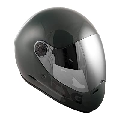 TSG - Pass Full-face Helmet with Two Visors Included | for Downhill Skateboarding, E-Skating, E-Onewheeling, Longboarding | Gloss Marsh : Sports & Outdoors