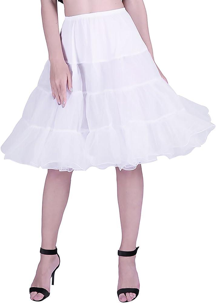 HDE Womens Petticoat Vintage Slip Rockabilly Swing Dress Underskirt Tutu Skirt