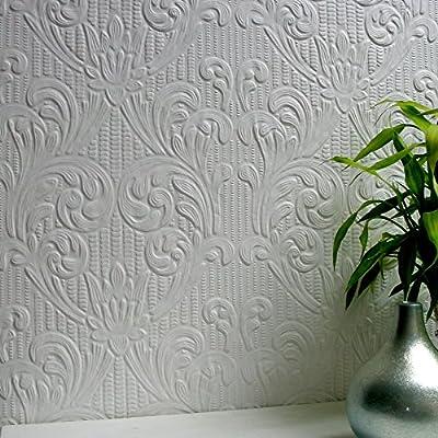 Brewster 437-RD0630 Charles Supaglypta Wallpaper