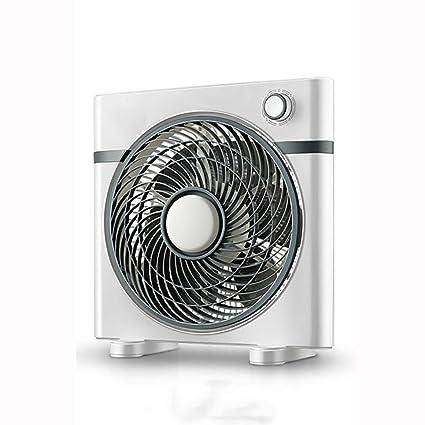 LYJD Ventilador eléctrico, Ventilador de Mesa de Escritorio Modelos mecánicos Azul y Gris, silenciar