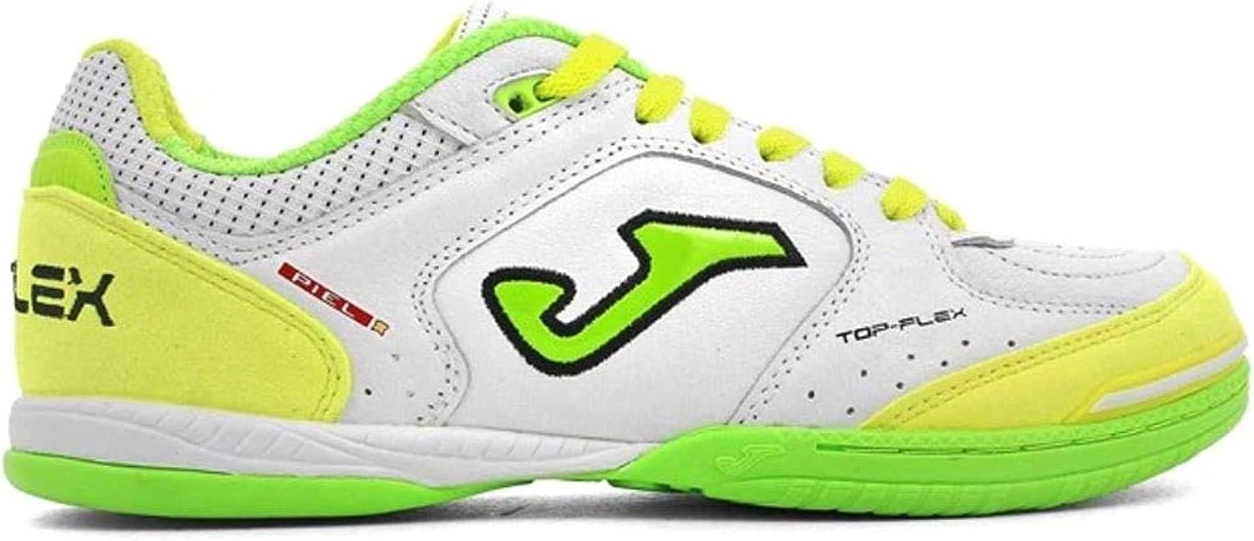 Joma Top Flex, Zapatilla de fútbol Sala, White-Yellow, Talla 11.5 ...